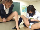 Wild Asian teacher shows how to suck dick picture 14