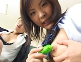 Wild Asian teacher shows how to suck dick