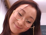 Kinky female teacher Shizuku Morino sucks and rides dick on pov