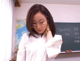 Kinky female teacher Shizuku Morino sucks and rides dick on pov