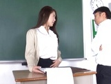 Naughty Japanese teacher Hikari Nishino  is fucked properly