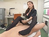 Incredible Asian teacher gives sexy handjob picture 12