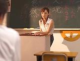 Naughty Fuyutsuki Kaede fulfills young studs picture 13