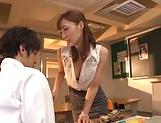 Naughty Fuyutsuki Kaede fulfills young studs
