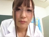 Big boobies Japanese teacher in glasses getting screwed in POV