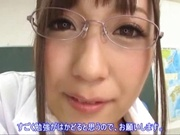 Big boobies Japanese teacher in glasses getting screwed in POV