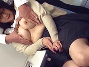 Hirose Yoko giving head as she fingers her cunt