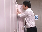 Ogawa Momoka sucking a huge stiff cock dry