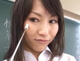 Crazy Tokyo female teacher Airi Mikami rides cock in a classroom picture 15