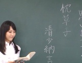 Crazy Tokyo female teacher Airi Mikami rides cock in a classroom