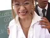 Sex-minded Japanese teacher,  Hina Aizawa fucked in a classroom