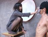 Horny Tsumugi Serizawa uses her feet fucking like mad picture 12