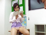 Sugary Japanese teacher Emi Nanjyou has sex with her horny student picture 12