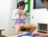 Sugary Japanese teacher Emi Nanjyou has sex with her horny student picture 13
