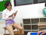 Sugary Japanese teacher Emi Nanjyou has sex with her horny student picture 14