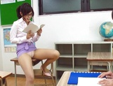 Sugary Japanese teacher Emi Nanjyou has sex with her horny student picture 15