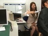 Sexy long-haired teacher Hikari Nishino enjoys cock sucking and hot fuck picture 11