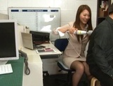 Sexy long-haired teacher Hikari Nishino enjoys cock sucking and hot fuck picture 13