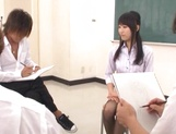 Sexy Tokyo teacher Airi Mikami strips and gets banged by her students picture 1