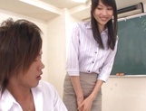 Sexy Tokyo teacher Airi Mikami strips and gets banged by her students picture 8