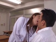 Busty Asian teacher with shaved pussy Mashiro Yuuna fucked on pov