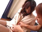 Horny teacher in stockings penetrated