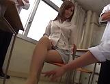 Astonishing teacher Kirishima Rino has wet muff pounded picture 12