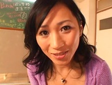 Sexy Japanese mature lady gets her tits and pussy banged on pov picture 11