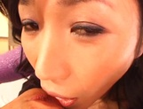 Sexy Japanese mature lady gets her tits and pussy banged on pov picture 12