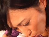 Sexy Japanese mature lady gets her tits and pussy banged on pov picture 13
