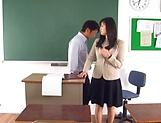 Hirose Yoko has her twat rammed in class picture 12