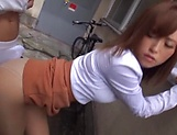 Hot Asian Kirishima Rino gets fucked hardcore doggy style picture 14