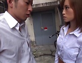 Hot Asian Kirishima Rino gets fucked hardcore doggy style picture 2