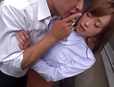 Hot Asian Kirishima Rino gets fucked hardcore doggy style picture 5