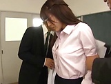 Kinky Asian beauty gets fucked by two dudes picture 13