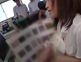 Facial ends Kirishima Rino's filthy cock sucking show picture 11