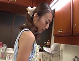 Steamy hot milf nailed in the kitchen