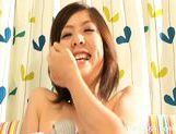Yoshine Kimura Huge Toying Asian babe Likes Huge Vibrators For Fun picture 11
