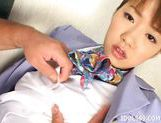 Yu Aizawa She Tongues Cock Asian babe Is A Cum Addicted Cocksucker picture 8
