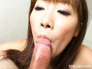 Yu Aizawa Talented Asian Tongue Tramp Knows How To Suck A Cock