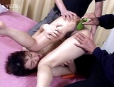 Horny Japanese milf with tight ass hole gets it drilled hard picture 13