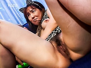 Horny mature Yui Sarina gets fingered and fucked hard