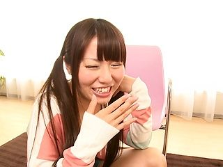 Young teen Chiharu Izono loves to deep suck cock