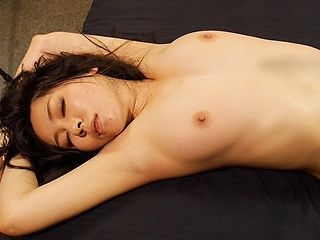 Chick with tied hands Miyuki Ojima gets her shaved pussy drilled