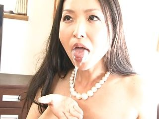 Gorgeous Asian MILF Miki Sasai has oral sex on a couch