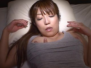 Sleepy Asian beauty Sumire Matsu gets fucked in POV style