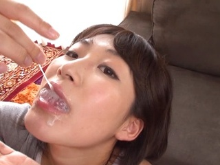 Smiling Japanese chick Tsubasa Ayumi blows many cocks gets multiple creampies