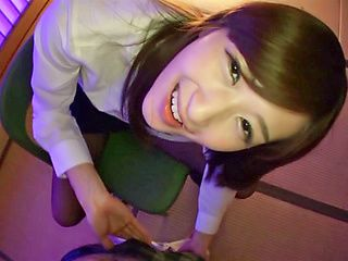 Ichika Kanhata naughty Japanese teacher gives foot job and blowjob