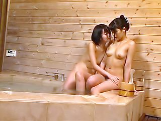 Horny lesbians enjoy a spicy girl on girl action