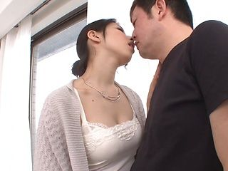 Cock-starved chick Yua Sakuya deepthroats dick and gets tits fucked
